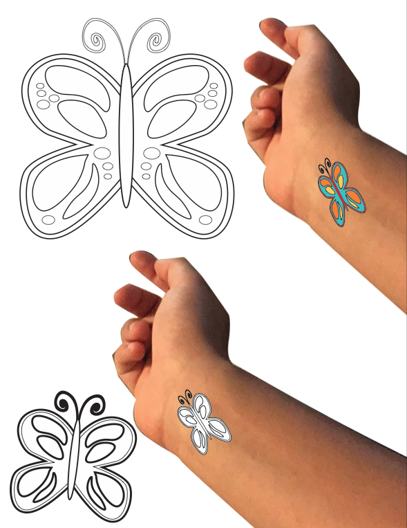 Stick on Tattoo Renderings