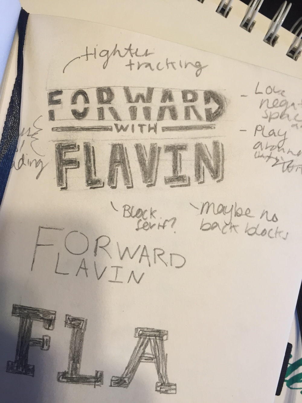Forward with Flavin Sketch