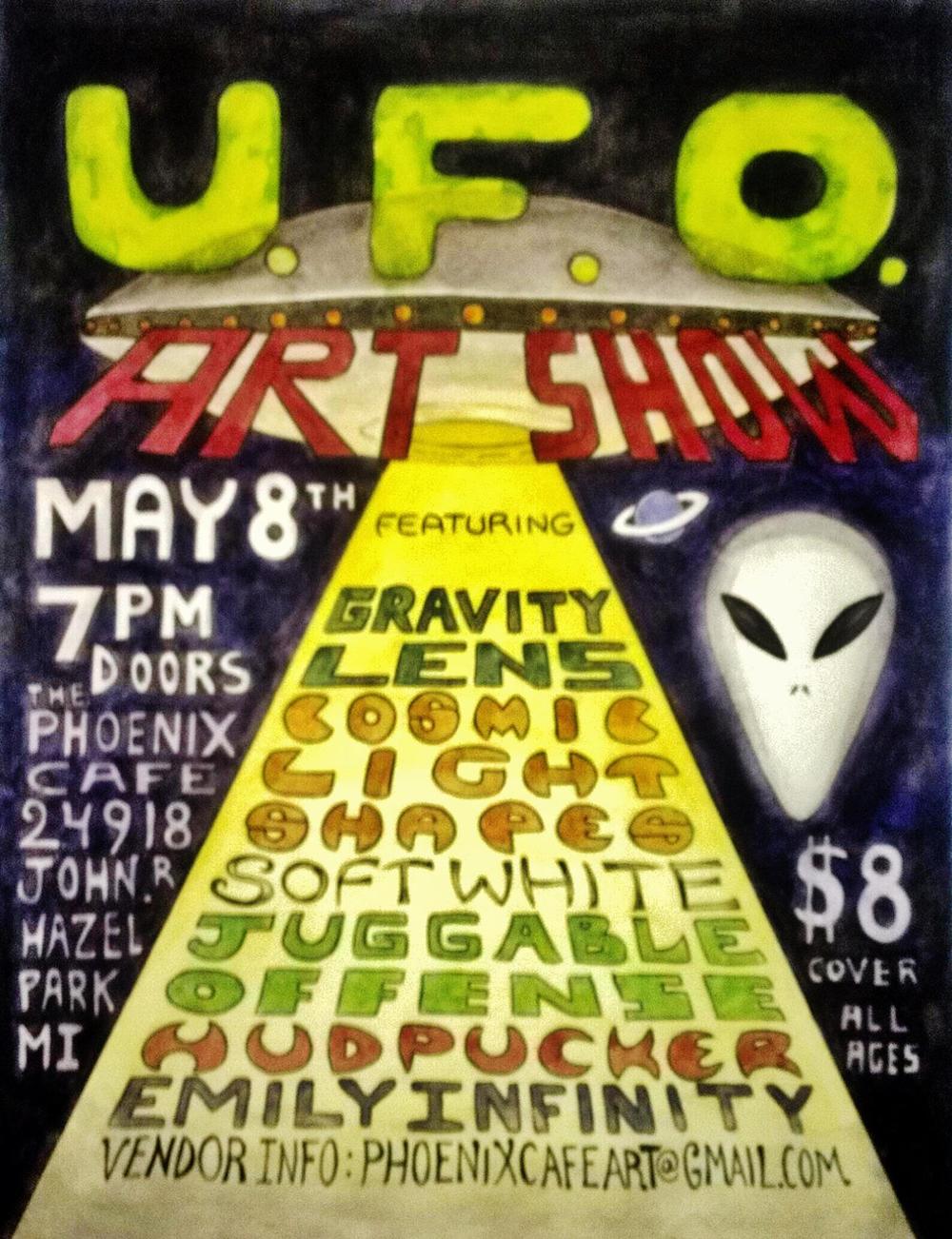 UFO , Phoenix Cafe, 2015, Hazel Park MI