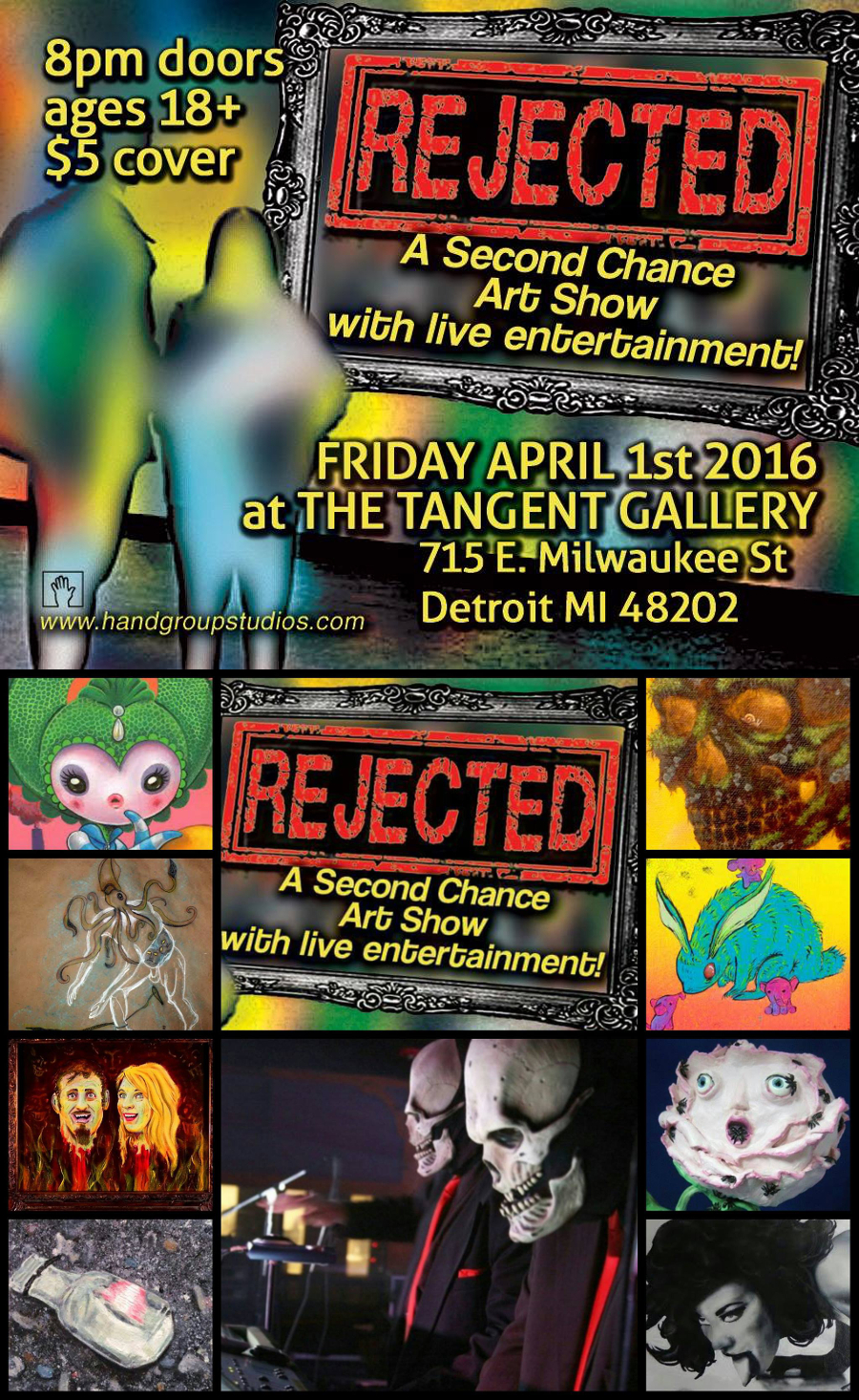 Rejected: A Second Chance Art Show , 2016, at The Tangent Gallery, Detroit MI