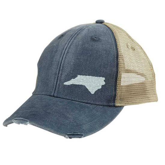 9a5d730e59d33 State Legacy Revival - North Carolina Flag Patch Trucker Hat - Brown —  Carolina Store