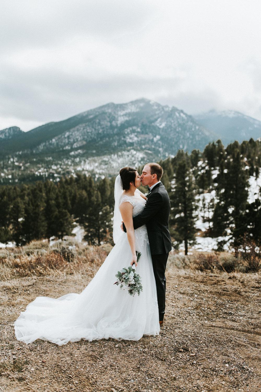 Niki + Justin | Intimate Winter Wedding in the Rockies