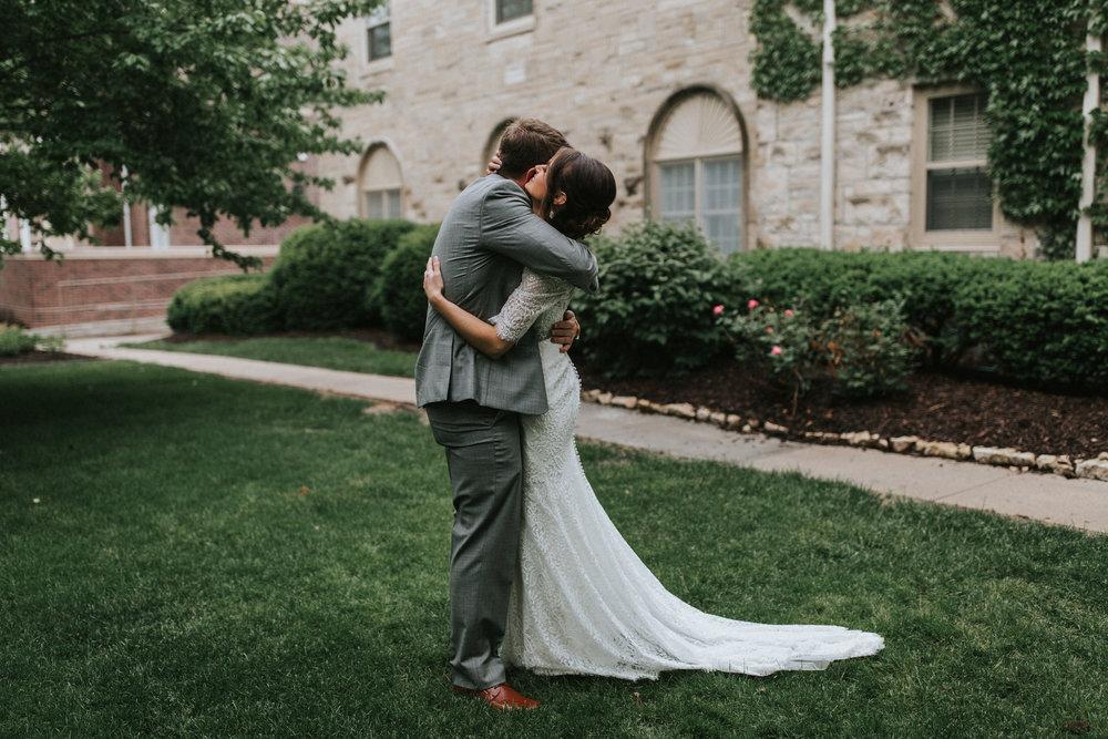 Emily + Brent | Rainy Midwestern Wedding Day