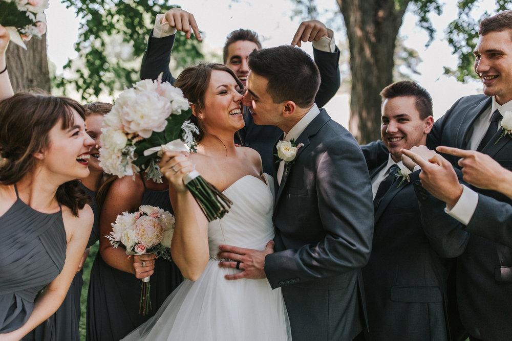 Debi + Tyler | Springtime Wedding day at The Lincoln Station in Nebraska