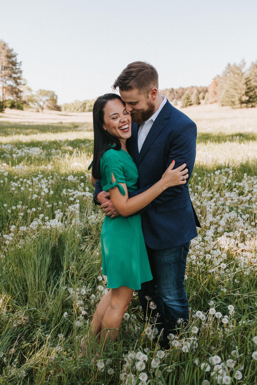 Mayara + Kaleb | Springtime Engagement Session in Nebraska