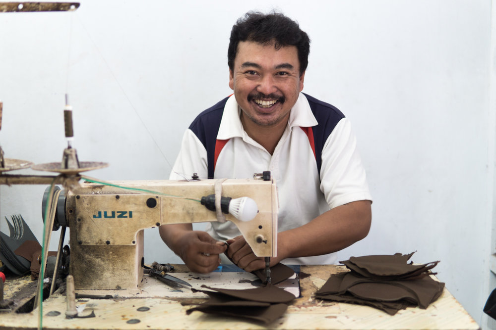 PAK AGUS – OUR SEWING MACHINE OPERATOR