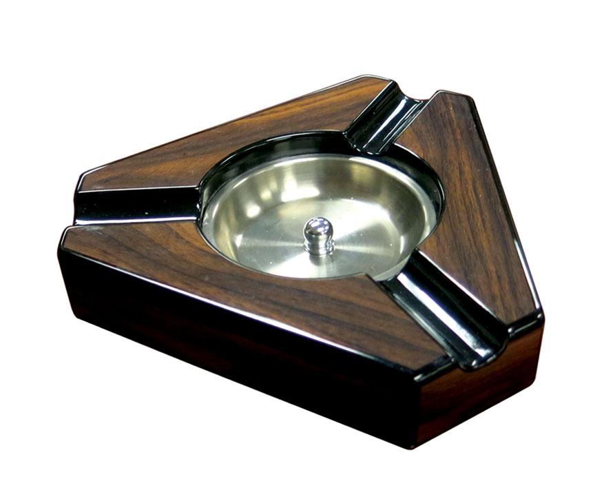 ASH 3W Maple Triangular Ashtray