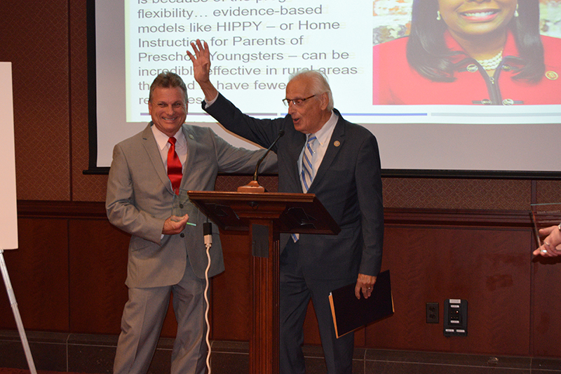 Rep. Bill Pascrell (right) congratulated on his award by his colleague Rep. Buddy Carter (left)