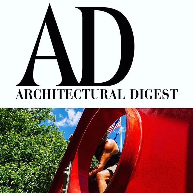 "When it all lines up. @archdigest X @washingtonartassociation X @fitzhugh_karol is LIVE.  Link in bio to see + read all about it. @elenabowes - a terrific partner bringing this story to life; your call to see ""art in the fresh air this summer"" compels. Lots of art + inspo detailed. .  With 🙏🏼 to 📸 @richpomphoto + @davidfoxley for leading + to you @bruceglickman for always the 😘. . . Go to #WashingtonDepot #LitchfieldCounty. Magic places. And now contemporary sculpture outside."
