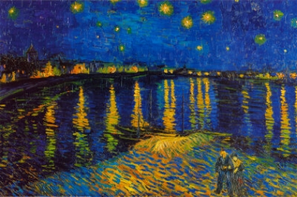 Vincent Van Gogh,  Starry Night Over the Rhone