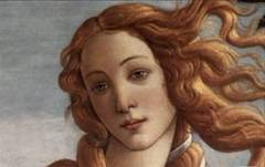 Detail from  The Birth of Venus  painted by Sandro Botticelli