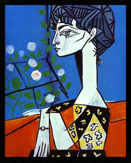 - Pablo Picasso, Jacqueline with Flowers