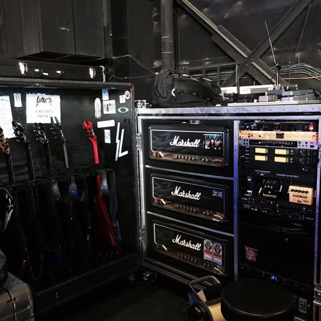 Kerry King guitar world stage left.  #BCRich #marshall #dunlop