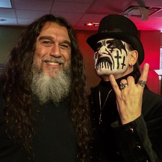 Tom Araya and King Diamond, pre-show summoning, The Woodlands, Texas, August 1st, 2015. #SLAYER2015 #REPENTLESS #KingDiamond