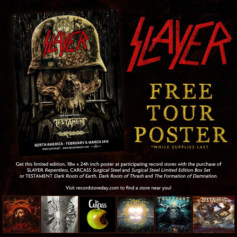 Slayer tour dates