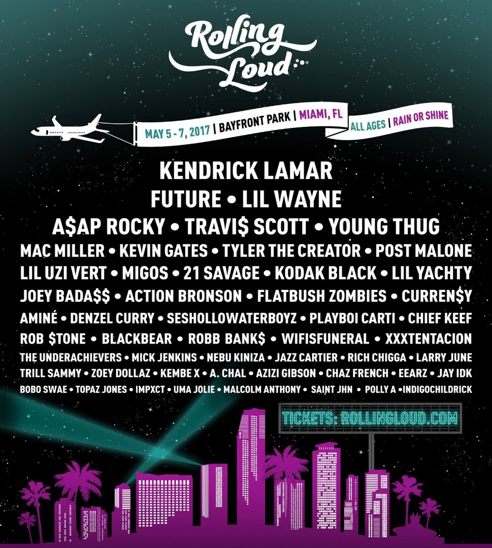 Rolling Loud Miami Shares Insane 2017 Lineup — HOLIDAY OF MUSIC