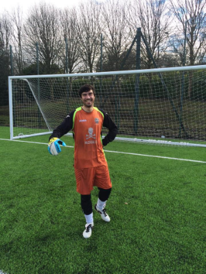Paul Georgie returned between the sticks for United. Though beaten three times he saved a penalty