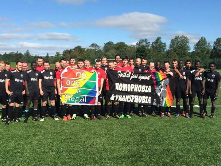 United's Development Team last played Saltire Thistle in Sept 2015. Both teams share a strong stance against homophobia.