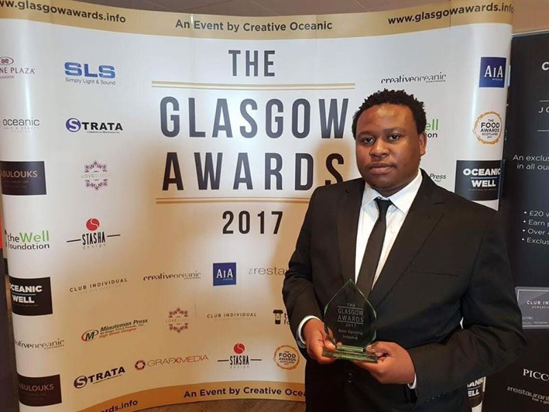 Winning Best Sporting Initiative at the Glasgow Awards 2017.