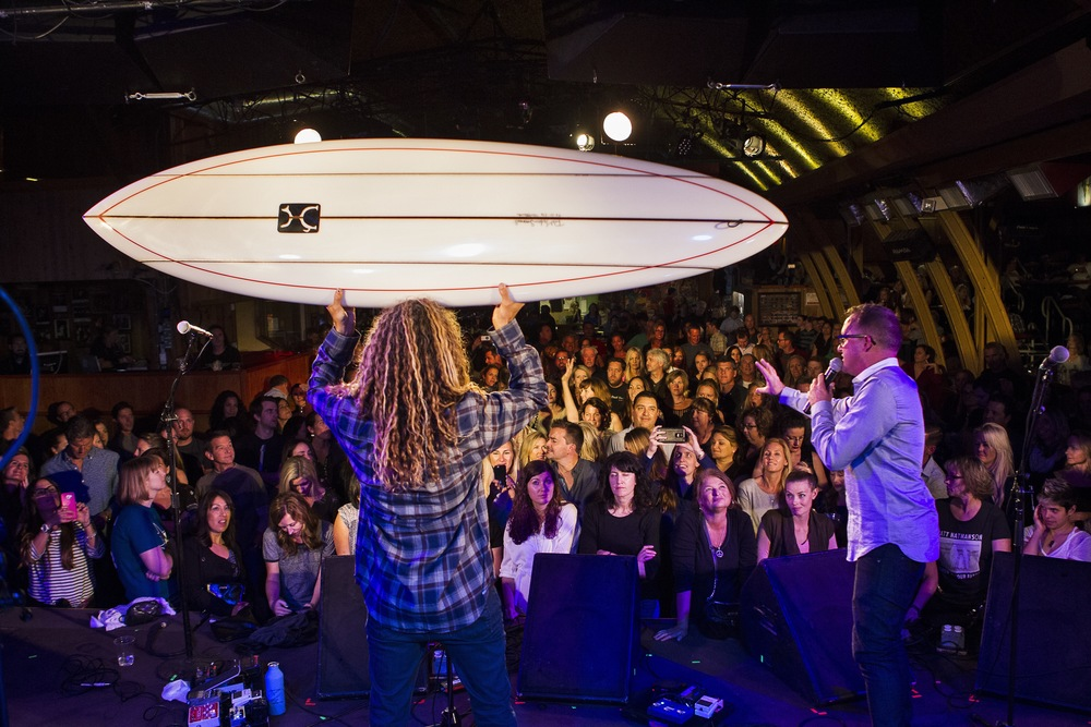 Three Rob Machado Surfboards were auctioned off, all shaped by Rob. (Photo: JP Van Swae)