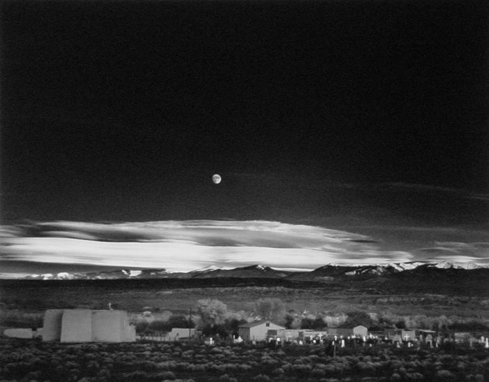 Moonrise, Hernandez, New Mexico, 1941, by Ansel Adams