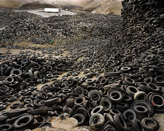 "Edward Burtynsky, Oil. ""Oxford Tire Pile #1"".Westley, CA 1999  [2]"