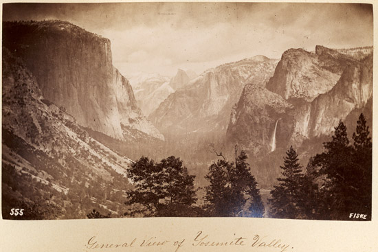 The Big-Oak Flat Road (now Hwy 120) entrance into Yosemite Valley, circa 1880. The view hasn't changed much in 130+ years