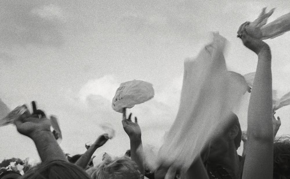 Irma Thomas Fans, Jazz Fest, New Orleans,  1985 by Henry Horenstein