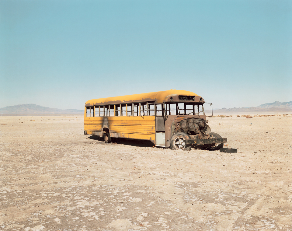 Richard Misrach, Personnel Carrier Pained to Simulate School Bus, 1986 [2