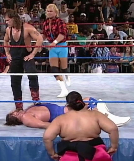 Let's just pray we don't have to suffer through an HBK/Yokozuna VS Mr. Perfect/Hacksaw tag team match.