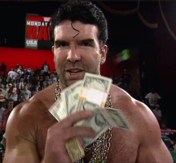 Razor Ramon had to sell his shirt to get that money.