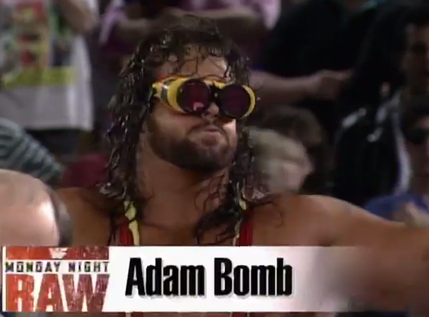 Let's start now: imagine this guy is actually a cool wrestler.