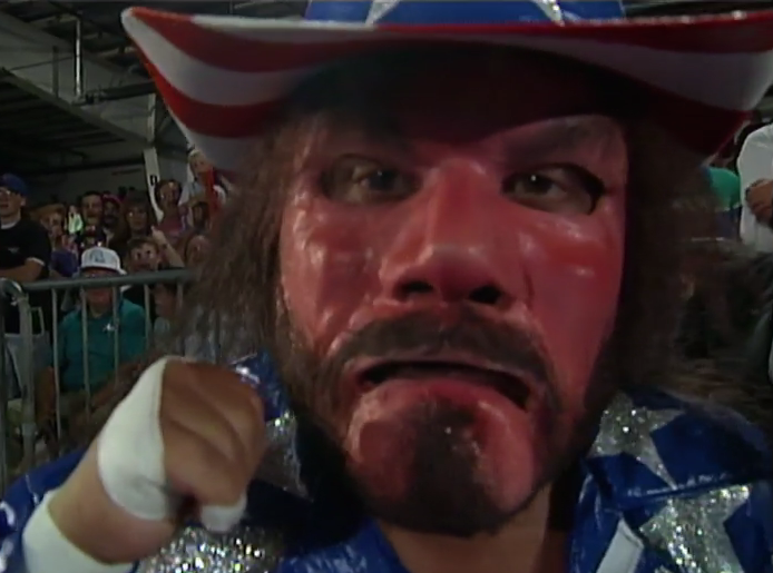 OH MY GOD HE'S KILLED RANDY SAVAGE AND IS WEARING HIS FACE AS A MASK