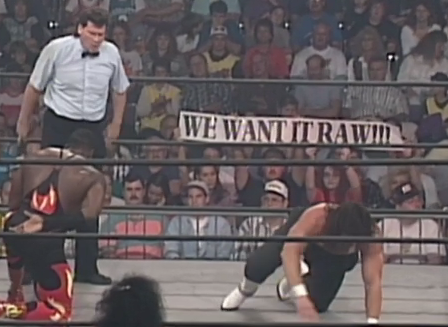 Interestingly it seems that Raw still has fans, even in the Nitro crowd. Or maybe Raw just hired audience plants.