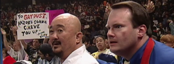 Mr. Fuji and Jim Cornette are also concerned with the rampant homophobia.