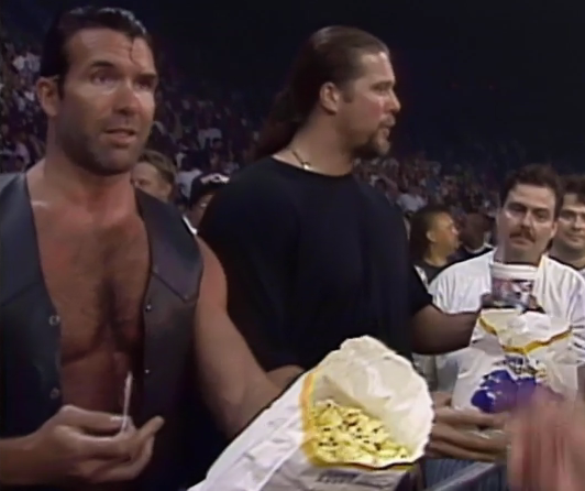 They kayfabe spent money on front row seats. That's an interesting way of bringing the WCW down.