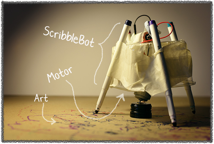 STEAM-workshops-dublin-creativity-technology-electronics-scribble-bot