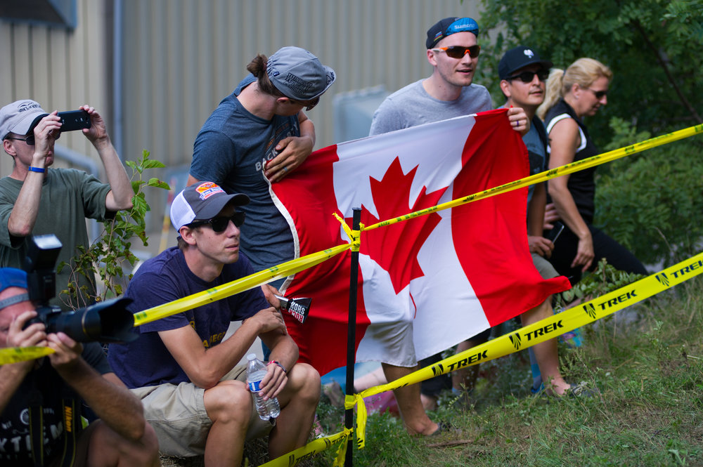 With Michael's home province of Manitoba just a 10 hour drive away, there was some Canadian support out there cheering him on.  Photo by Ethan Glading.