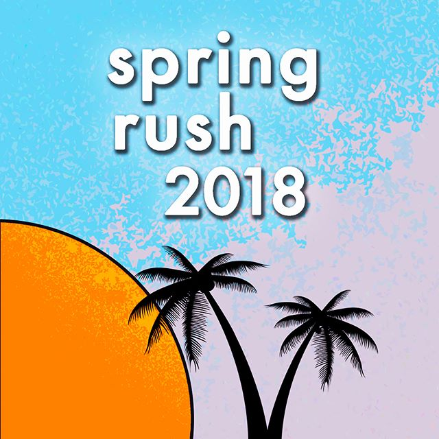 Spring Rush 2018 is coming up fast. If you or your friends are looking to be a part of UCSB Greek life then stop by our house next week🌴