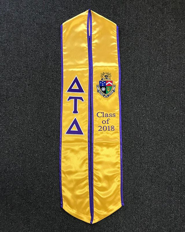 Congratulations to our soon to be graduated Delts, we're excited to see where life takes you.  Thank you @collegesash for the beautiful stoles, we hope to look just as good as they do on graduation day