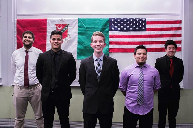 Congratulations and welcome to our newest executive council. May success attend to your efforts to take the Epsilon-Theta chapter of Kappa Sigma to the next level. We can't wait to see what you guys will accomplish in the coming year!  GM (President): Richard Archer GP (Vice President): Tyler Valdez GMC (VP of Programming): Marco Doumer GT (Treasurer): Khalid Najib  GS (Secretary): Edwin Wu #AEKΔB