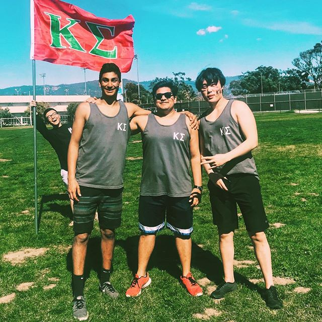 Akash, Tarun, and Tyler from Eta class out here representing the Epsilon-Theta chapter of Kappa Sigma at @ucsbgammaphibeta's Moon-ball philanthropy. Thank you ladies for hosting a great event!