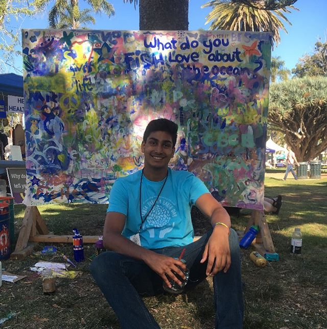 Happy Earth Day! 🌏  s/o to Akash for volunteering for the Community Environmental Council today!