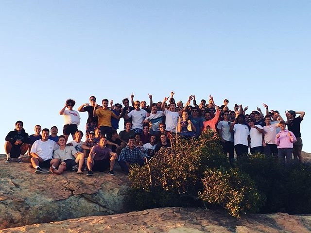 Stoked to welcome 25 new guys! Started off the year with a hike up to Lizards Mouth 🦎