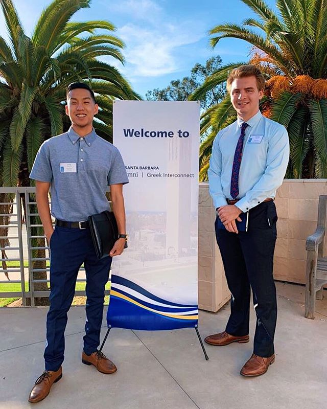 Thank you to brothers Lionel and Christian for helping coordinate everyone for the Greek Interconnect Event! #alumnirelations