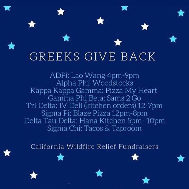 Take a study break today and feast around IV for a good cause! 🍽🤘🏼