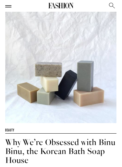Fashion Magazine / Why We're Obsessed with Binu Binu, the Korean Bath Soap House