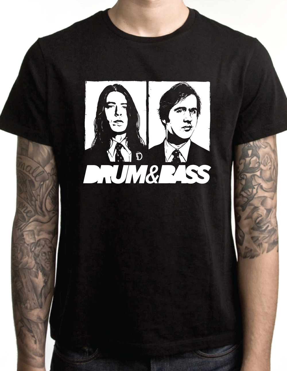 Zazzle t shirt design size - Dave And Krist Nirvana Drum Bass Graphic Print By Onset Dnb Overurhead Clothing