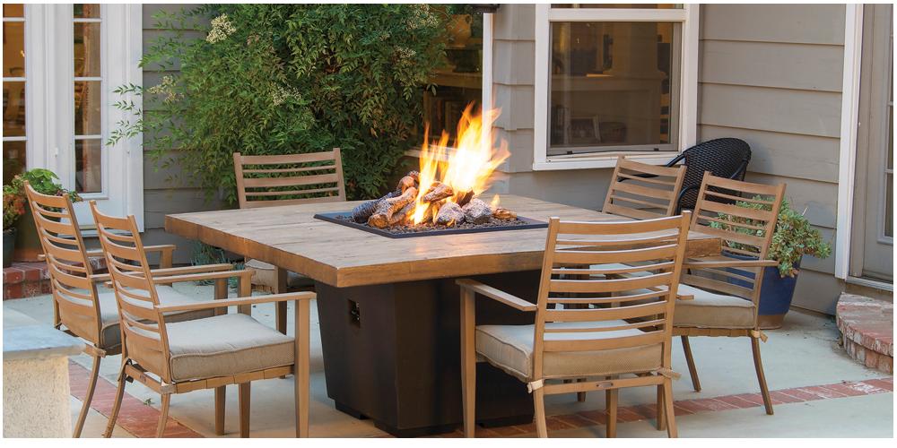 French Barrell Oak Cosmo Square Firetable
