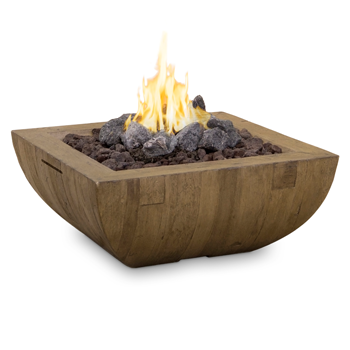 "36"" Bordeaux Square ""Reclaimed Wood"" Fire Bowl"